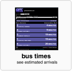 estimated arrival times